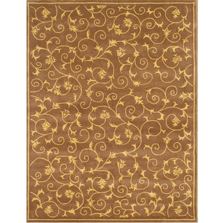 Hand-tufted Cazanova Vines Wool Rug (8' x 10')