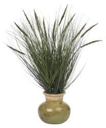 Grass and Mini Cattails Silk Plant