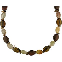 Tiger's Eye and Quartz Bead Necklace