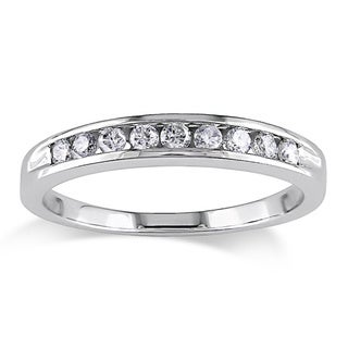 Miadora 14k Gold 1/4ct TDW Round Diamond Anniversary Ring (H-I, I2)