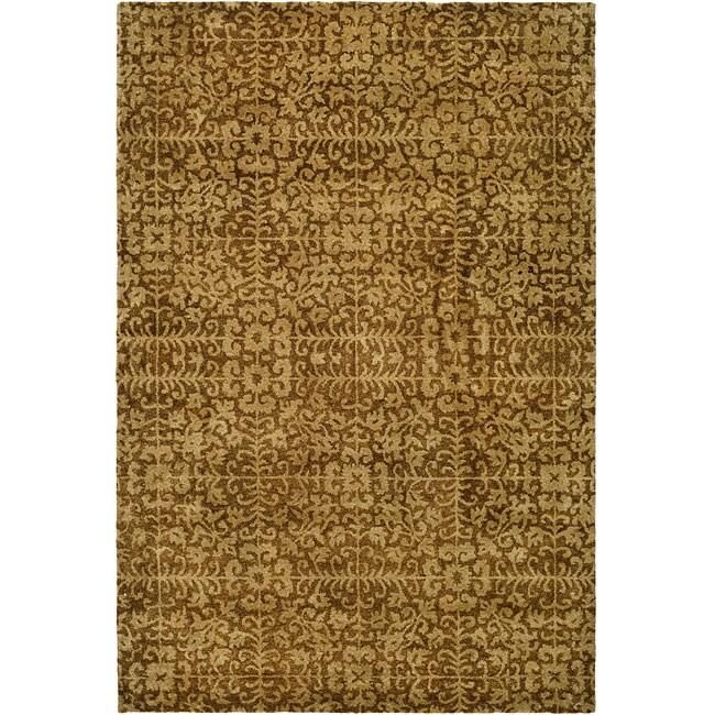 "Safavieh Handmade Majestic Beige Wool Area Rug (7'6"" x 9'6"")"
