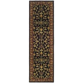 Handmade Heritage Heirloom Black/ Red Wool Runner (2'3 x 8')