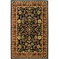 Handmade Heritage Heirloom Black/ Red Wool Rug (9&#39;6 x 13&#39;6)
