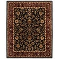 Handmade Heritage Heirloom Black/ Red Wool Rug (7&#39;6 x 9&#39;6)