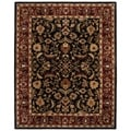 Handmade Heritage Heirloom Black/ Red Wool Rug (8'3 x 11')