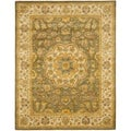 Handmade Heritage Taupe/ Ivory Wool Rug (7&#39;6 x 9&#39;6)
