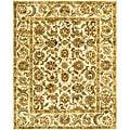 Safavieh Handmade Classic Ivory Wool Rug (5' x 8')