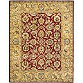 Handmade Classic Red/ Gold Wool Rug (5' x 8')