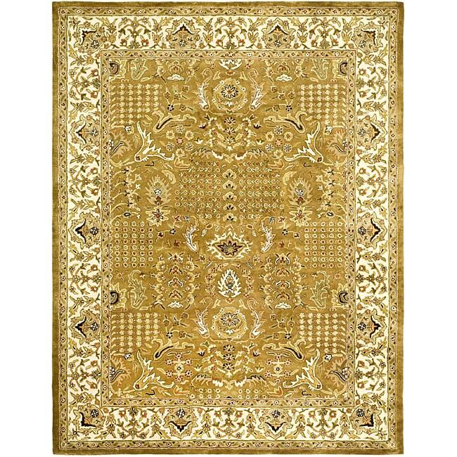 Safavieh Handmade Classic Gold/ Ivory Wool Rug (5' x 8')