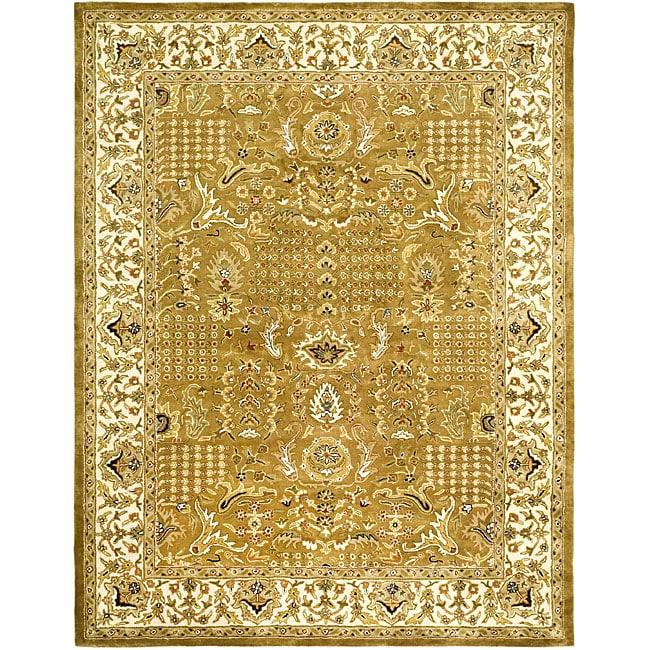 Safavieh Handmade Classic Gold/ Ivory Wool Rug (7'6 x 9'6)