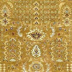 Handmade Classic Gold/ Ivory Wool Rug (7'6 x 9'6)
