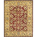 Handmade Classic Red/ Gold Wool Rug (7'6 x 9'6)