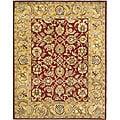 Safavieh Handmade Classic Red/ Gold Wool Rug (7'6 x 9'6)