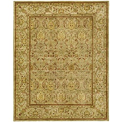 Handmade Mahal Light Brown/ Beige N.Z. Wool Rug (9'6 x 13'6)