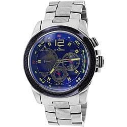 Le Chateau Men's Cautiva Sports Blue/ Black Stainless Steel Watch