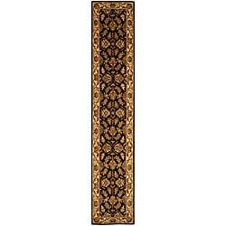Safavieh Handmade Heritage Kashan Black/ Beige Wool Runner (2'3 x 14')