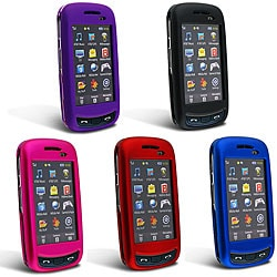 Eforcity Snap-On Hard Plastic Case with Rubber Coating for Samsung Impression A877