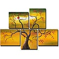 'Tree' Hand-painted 5-piece Canvas Set