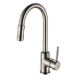 Kraus Single Lever Pull-out Sprayer Sat-in Nickel Kitchen Faucet