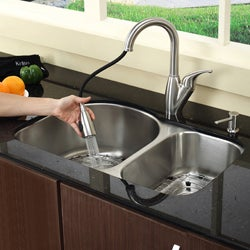 Kraus Single Lever Pull-out Sprayer Steel Kitchen Faucet