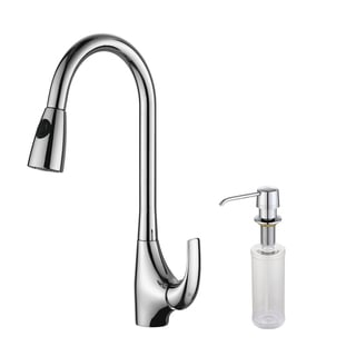 Kraus Chrome Pull-out Sprayer Kitchen Faucet and Soap Dispenser