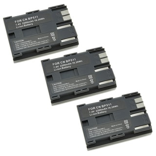 Eforcity 3 PACK Canon BP-511 Battery for G1 G5