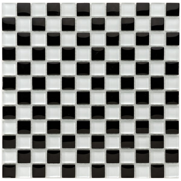 SomerTile 12x12-in Reflections Square 1-in Prague Glass Mosaic Tile (Pack of 10)