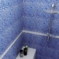 SomerTile 11x11-in Quarry Blue Cloud Porcelain Mosaic Tile (Pack of 10)