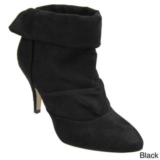 Bamboo by Journee High-heel Microsuede Ankle Boots