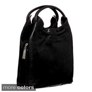 Cosmo Italian Leather Hobo-Style Handbag