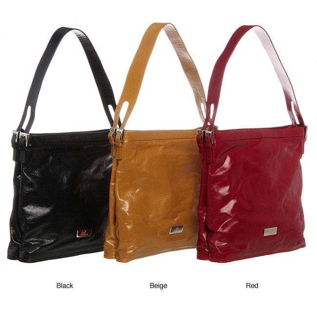 ABBYSON LIVINGCosmo Italian Leather North-South-Style Handbag