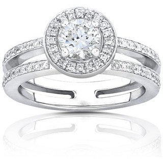 Annello 14k Gold 3/4ct TDW Round-cut Diamond Engagement Ring (H-I, I1-I2)