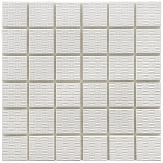 SomerTile 12x12-in Sicilia D 2-in White Porcelain Mosaic Tile (Pack of 10)