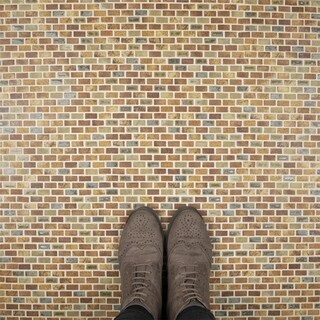 SomerTile 11.75x11.75-in Samoan Subway 0.5x1-in Tundra Beige Porcelain Tile (Pack of 10)