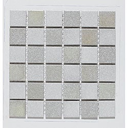 SomerTile 12x12-in Glow Checkerboard 2-in Porcelain Mosaic Tile Sheet