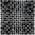 SomerTile 12x12-in Reflections Mini 5/8-in Bizancio Glass/Stone Mosaic Tile (Pack of 10)