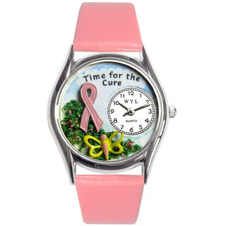 Whimsical Time for the Cure Theme Pink Watch