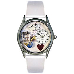 Whimsical Women's Nurse Theme Small Silvertone Watch