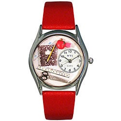 Whimsical Women's Teacher Theme Small Silvertone Watch