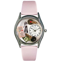 Whimsical Women's Teen Girl Theme Silvertone Case Watch