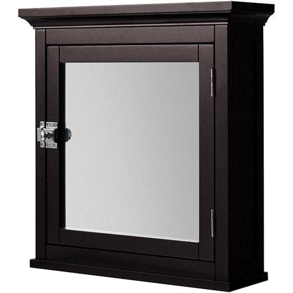 classique 18 inch white medicine cabinet by elegant home fashions
