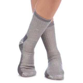 Smart Socks Charcoal Merino Wool Crew Hiking Socks (Pack of 3)