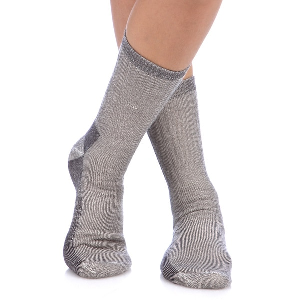 Smart Socks Charcoal Merino Wool Crew Hiking Socks (Pack of 3)