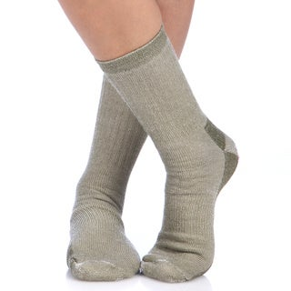 Smart Socks Olive Merino Wool Crew Hiking Socks (Pack of 3)