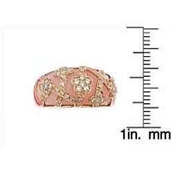D'Yach 14k Rose Gold Pink Opal and 1/2ct TDW Diamond Ring (G-H, SI1-SI2)