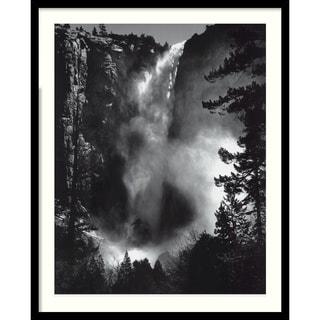 Ansel Adams 'Bridal Veil Fall' Framed Art Print