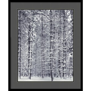Ansel Adams 'Pine Forest in the Snow, Yosemite National Park' Art Print