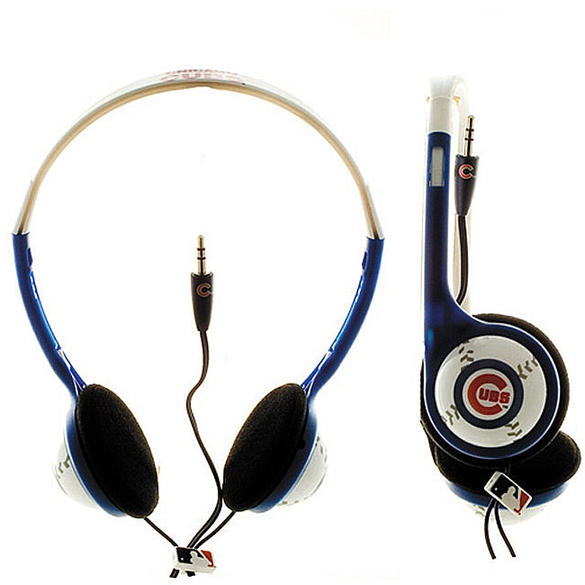 Nemo Digital MLB Chicago Cubs Logo Baseball Overhead Headphones