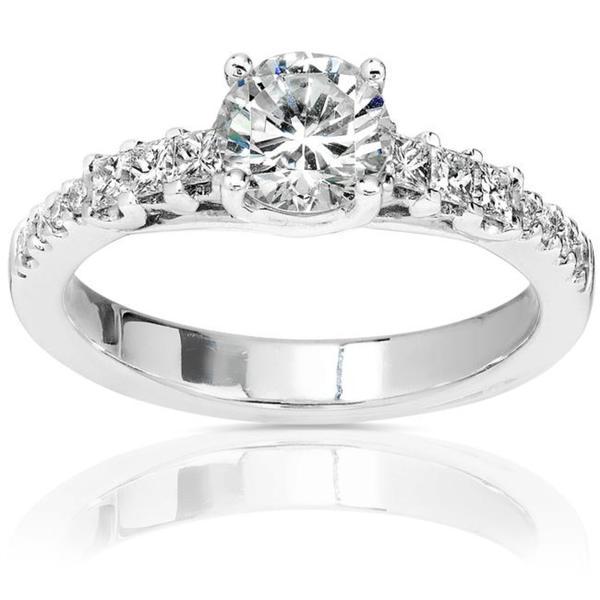 Annello 14k Gold 1 1/5ct TDW Diamond Engagement Ring (H-I, I1-I2)