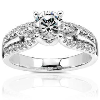 Annello 18k Gold 1 3/8ct TDW Diamond Engagement Ring (H-I, I1-I2)